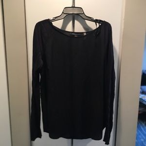 NWT French Connection Maternity Mixed Media Top